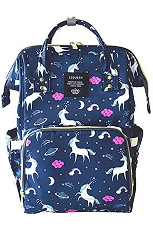 QIXINGHU Einhorn Multifunktions-Wickeltasche für Babypflege Reiserucksack breit offen Windeltaschen Handtaschen leicht große Kapazität