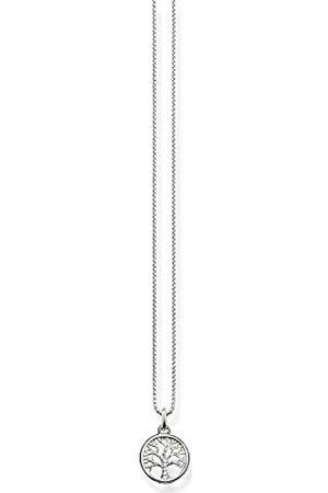 Thomas Sabo Damen-Kette mit Anhänger 925 Zirkonia weiß Brillantschliff 42 cm - SCKE150145