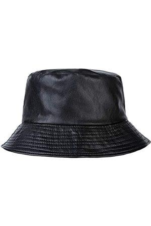 ZLYC Unisex Fashion Bucket Hat PU Leder Regenhut Wasserdicht Fischerhut - - Einheitsgröße