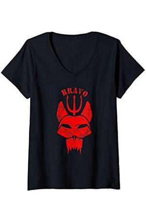 Navy London Damen U.S. Seals Original bravo team Proud gift T-Shirt mit V-Ausschnitt