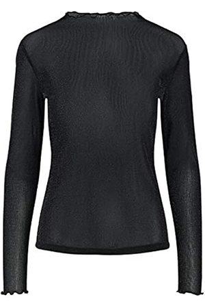 YAS Damen BLAKY LS TOP Bluse, Black