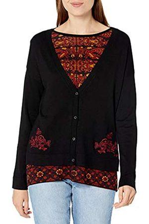 Desigual Womens JERS_Dakota Pullover Sweater, Black