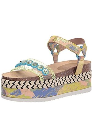 Betsey Johnson Damen TOVAA Keilabsatz-Sandale, /Mehrfarbig