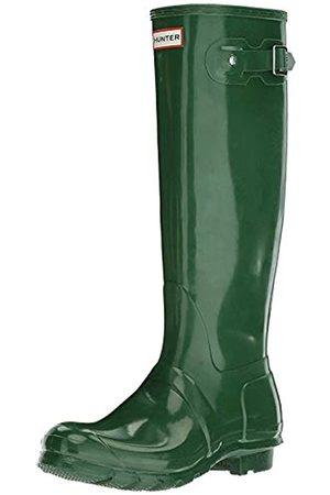 Hunter Damen Gummistiefel - Damen High Wellington Boots Gummistiefel, (Green HGR)