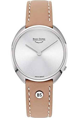 Soehnle Damen Uhren - Bruno Söhnle Damen Analog Quarz Uhr mit Leder Armband 17-13211-251