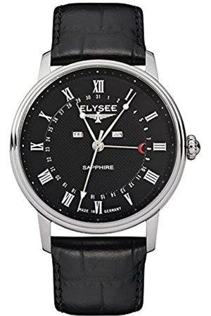 ELYSEE Uhren - Unisex Erwachsene Analog Quarz Uhr mit Leder Armband 77001L