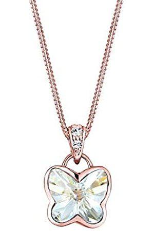 Elli Halskette Damen Schmetterling Anhänger Funkelnd mit Kristall aus 925 Sterling