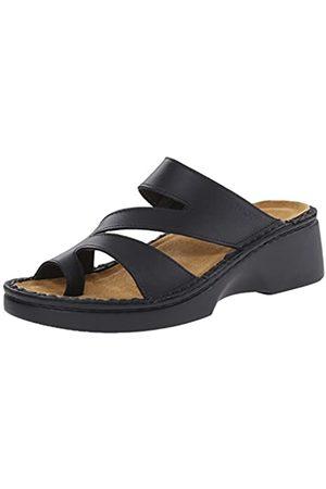 Naot Monterey Damen Sandalen mit Keilabsatz, (Schwarzes mattes Leder)