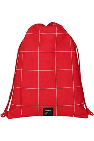 Grafoplas Grafoplas 37610751 Kordeltasche mit Außentasche mit Reißverschluss. Rot Einheitsgröße.
