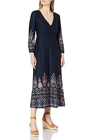 Springfield Damen Vestido Midi Cenefa Ikat Kleid