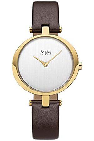 M&M Damen Uhren - DamenAnalogQuarzUhrmitLederArmbandM11931-532
