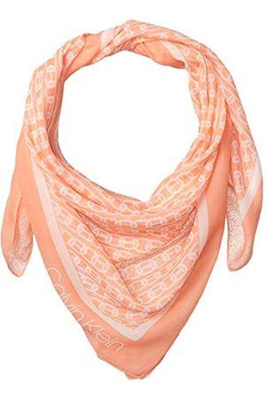 Calvin Klein Damen Chain Printed Chiffon Polyester Square Scarf Pashminaschal