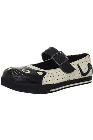 TUK Damen Schuhe - Character Ballet A8161L, Damen Sneaker, (Blanc (Cream/Black Dots))