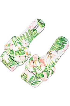 Cape Robbin Damen Clogs & Pantoletten - Vagabond Sandalen Slides für Frauen, gewebte Damen Pantoletten Slip On Schuhe, Grün (Palm)