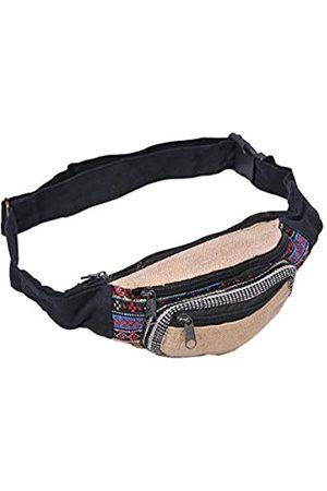 THE COLLECTION ROYAL Handmade Festival Hemp Cotton Waistpack Boho Hippie Waist Bag Hip Bum Running Belt Fanny Pack Travel Utility Belt (Multicolored-C)