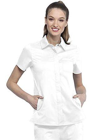 CHEROKEE Workwear Revolution WW669 Women's Hidden Snap Front Collar Shirt