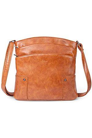 CLUCI Muttertagsgeschenke Crossbody Taschen für Frauen Kleine Leder Geldbörse Reise Damen Designer Vintage Handtaschen Schultertaschen, (Ölwachs zweifarbig )