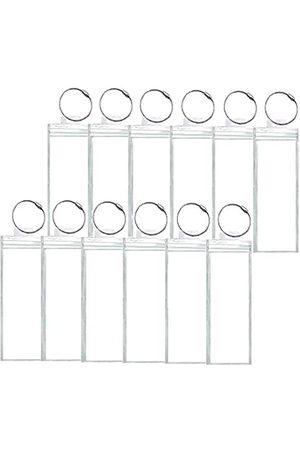 CRUISEGOGO Reisegepäck-Etiketten, Gepäckanhänger für Kreuzfahrtschiffe, 12 Stück, schmal, E-Tag-Halter, Reißverschluss und Stahlschlaufen