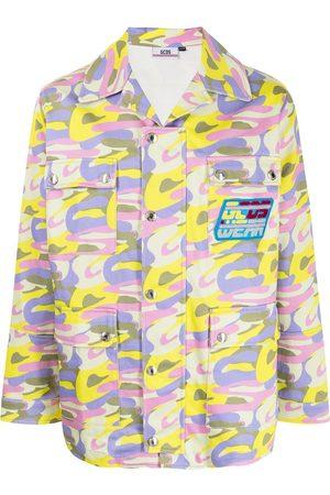 Gcds Military-Jacke mit Camouflage-Print