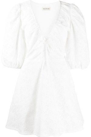Nicholas Damen Freizeitkleider - Kleid mit Puffärmeln