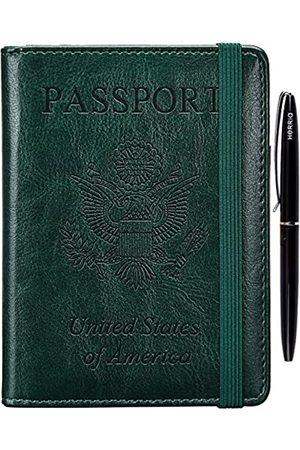 HerriaT Reisepasshülle, RFID-blockierend, Reisebrieftasche