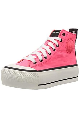Diesel Damen Fashion Sneaker, (Coral Fluo)