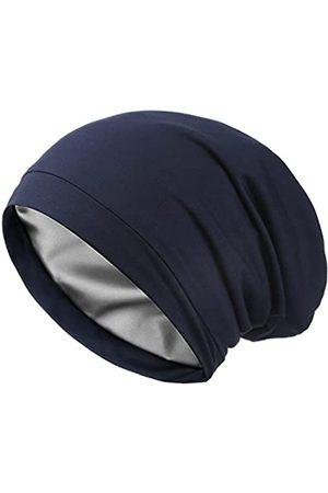 Lvaiz Schlafmütze aus Satin mit Seidenfutter, V2.0, elastisch, Satin, für die Motorhaube, Slouchy, Nachtmütze, Schädelmütze, Patientenpflege