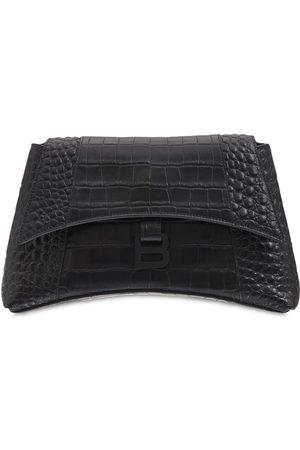 Balenciaga Small Soft Hour Leather Shoulder Bag