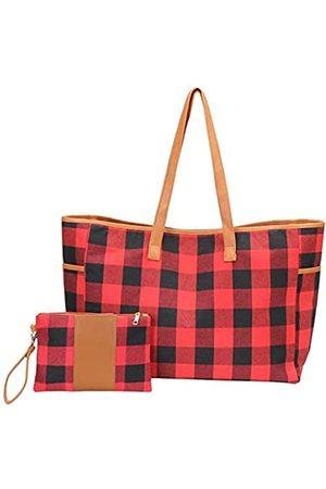 xinblueCo Monogrammierte Weekender Reisetaschen für Damen (Rot) - BPTS2