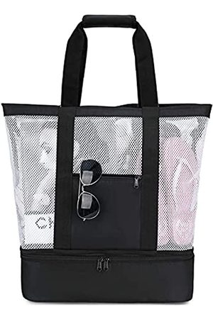 BTOOP Strandtasche mit Kühler, große Netz-Strandtaschen und Tragetaschen für Frauen, übergroße Pool-Tasche, Picknick, Camping