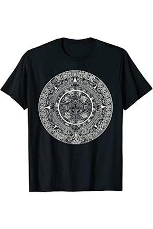 EDDArt Damen T-Shirts - Mexikanischen Azteken Sonne Stein Maya-Kalender II T-Shirt