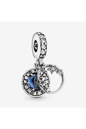 PANDORA Damen Uhren - Blauer Nachthimmel Halbmond & Sterne Charm-Anhänger