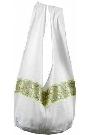 BenThai Products BTP! Schultertasche mit Elefanten-Blumenmuster, Hippie-/Hobo-/Thai-Baumwolle, Größe L, ( Lp4)