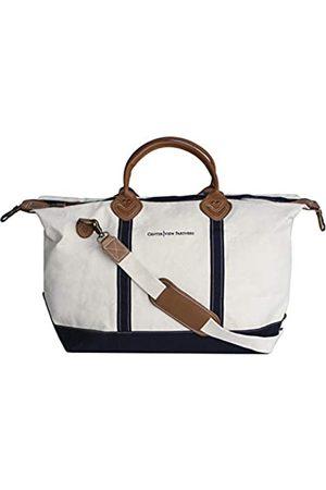 Tag&Crew Signature Duffle Bag, groß, aus schwerem Baumwollleinen, Größe 38,1 x 71,1 x 25