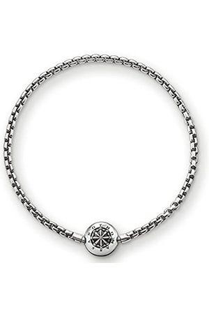 Thomas Sabo Damen Herren-Armband Karma Beads 925 Sterling Silber geschwärzt Länge 17 cm KA0002-001-12-L18