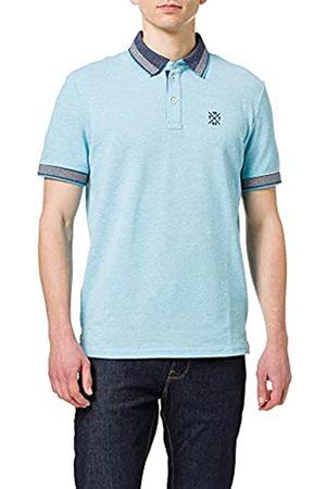 TOM TAILOR Herren 1026015 Pattern Polohemd, 27055-Aqua Blue Streaky Two One