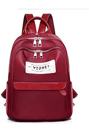 LOPDJSEG Damen Fashion Rucksack PU Leder solide Farbe Wasserdicht Reise Slim Anti-Diebstahl Tasche für College Student Frauen Männer