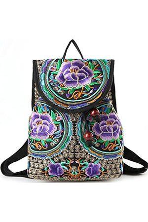 Goodhan Damen Reisetaschen - Vintage Phoenix Pailletten bestickt Frauen Rucksack Tagesrucksack Reise Schultertasche