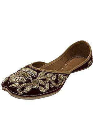 Step N Style Traditionelle Schuhe Punjabi Jooti flach Joti indische Schuhe Hochzeit handgefertigt Juti