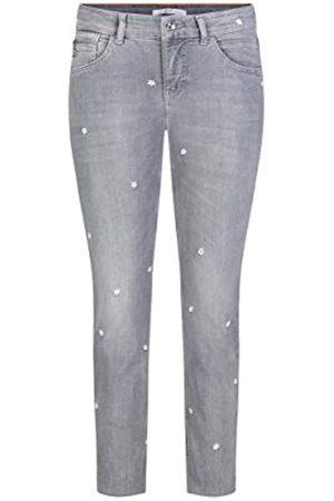 Mac Damen Fringe Flower Slim Jeans