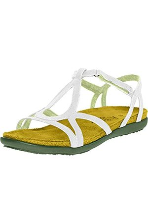 Naot Womens Dorith White Leather Sandals 39 EU