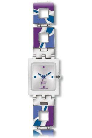 Swatch Damen Uhren - Damen-Armbanduhr HOT Batik Purple SUBK147G