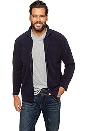 JP 1880 Herren große Größen Übergrößen Menswear L-8XL bis 7 XL, Fleece Jacke, Sweat-Jacke, Stehkragen, Reißverschluss & 2 Taschen, Outdoor Kleidung
