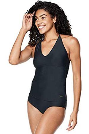 Speedo Women's Swimsuit Top Tankini V-Neck Halter, Black