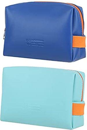 STABFOAM 2 x kompakte Make-up-Tasche, PU-Leder, Reise-Kosmetiktasche für Frauen und Mädchen, Make-up-Organizer-Tasche mit Reißverschluss, wasserdicht
