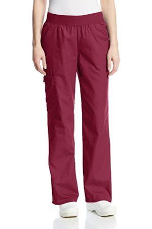 Cherokee Damen Flexibles Mid Rise Elastische Taille Scrubs Hose - Rot - Large Zierlich