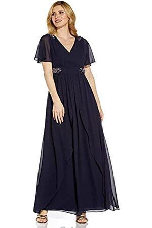 Adrianna Papell Damen Embellished Chiffon Gown Kleid fr besondere Anlsse