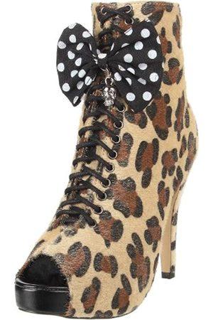 Iron Fist Damen Love Bites Stiefel, Braun (Leopard)