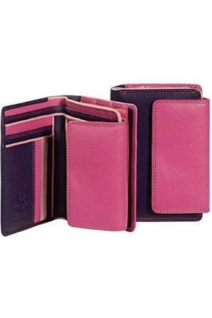 Visconti RB98 Mehrfarbige Geldbörse aus weichem Leder für Damen/Mädchen, Mehrere (rose)