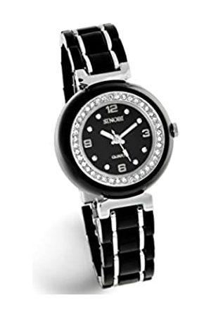 Sinobi Damen-Armbanduhr 1011624 XS Analog Quarz Edelstahl beschichtet 3812/N